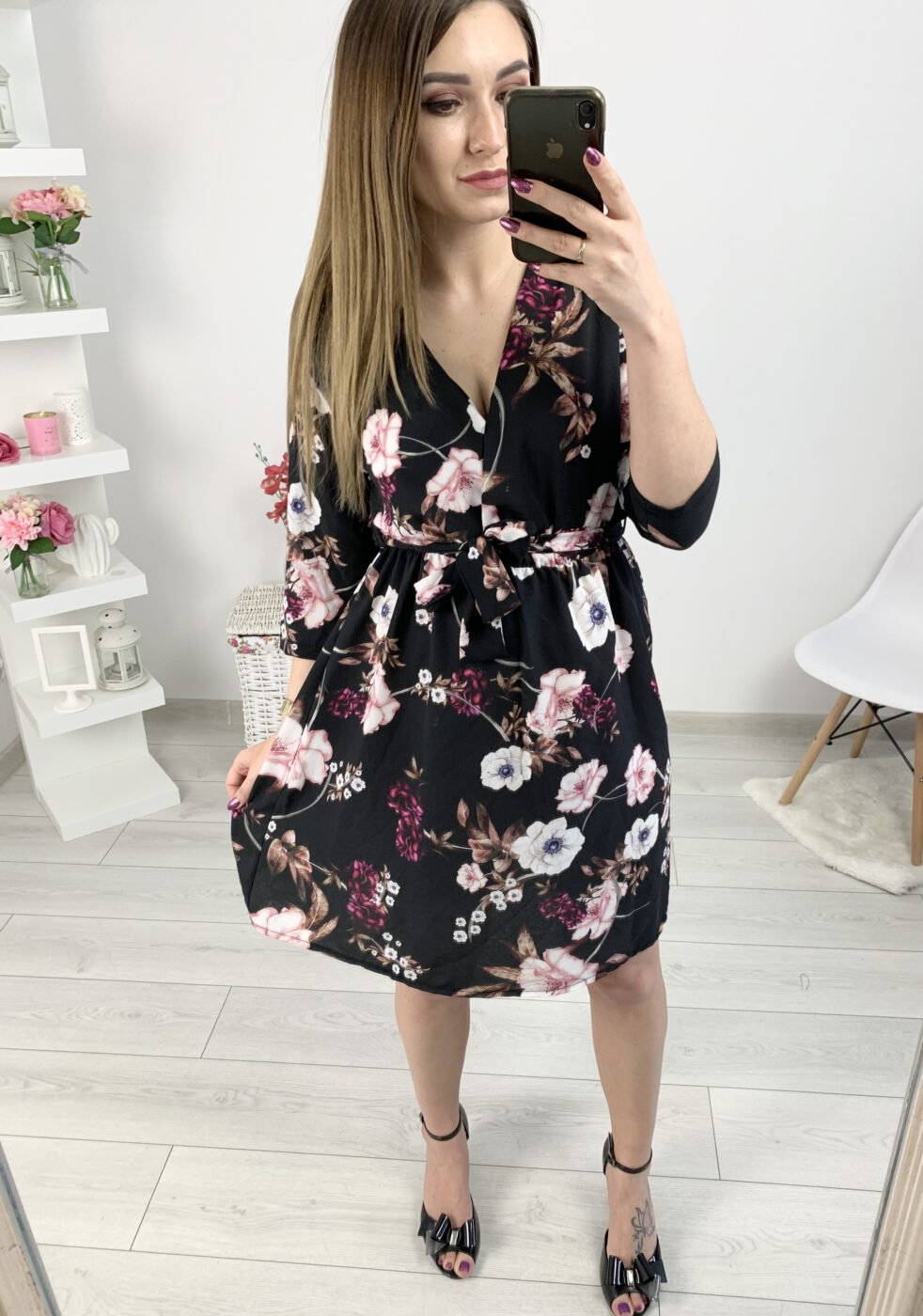 Sukienka Lady midi czarna ~ Elili Butik